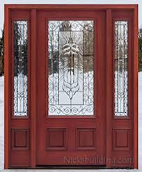 exterior front doors with sidelightsExterior Doors with Sidelights Wholesale Clearance Wood Doors