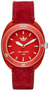 red leather band watch adh3183 loading zoom