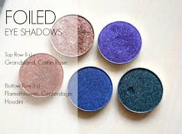 makeup geek foiled eye shadow swatches