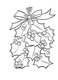 Hulstblaadjes Met Helderrode Besjes Kleurplaat Gratis Kleurplaten