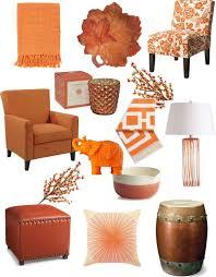 Burnt Orange And Brown Living Room Concept Unique Decorating