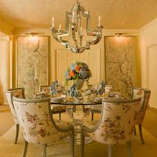 this dining area designed by scw interiors features niermann weeks monaco chandelier and english club chairs