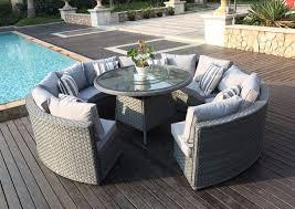 monaco 10 12 seater round rattan outdoor patio garden furniture outdoor patio furniture dining set