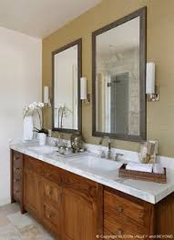 master vanity featuring solid walnut cabinetry
