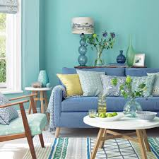 Ideal Home Living Room Spearmint Living Room With Denim Sofa And Lime Accents Ideal Home
