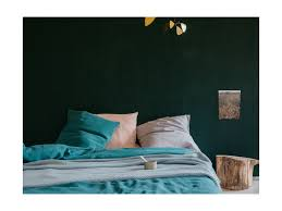 linen duvet cover emerald green