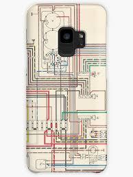 vintage wiring diagram cases skins for samsung galaxy by opul vintage wiring diagram
