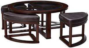 ashley furniture signature design marion contemporary coffee table tail height dark bown