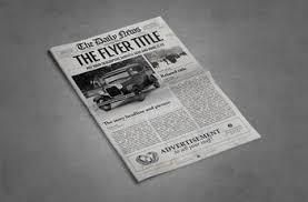 Free Newspaper Template Psd 1 Page Newspaper Template Adobe Photoshop 11x17 Inch By Newspaper