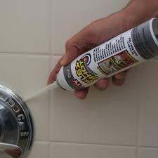 fix bathroom caulking with flex shot