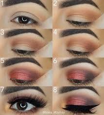 burgundy step by step makeup tutorial
