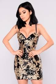 Hot Night Sequin Dress - Black/Gold   Короткие <b>платья</b>   Dresses ...