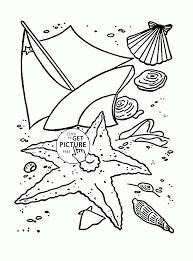 Small Picture Summer Beach coloring page for kids seasons coloring pages