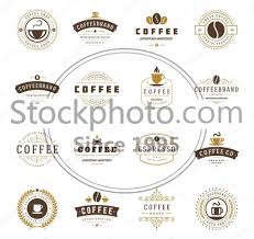 coffee shop logos.  Shop Stock Photo Of Coffee Shop Logos  Logos Badges And Labels  Design Elements To F