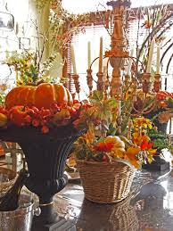 Flossy Thanksgiving Centerpieces As Wells As Thanksgiving Decor Thanksgiving  Holiday Decorating By Nazmiyal in Thanksgiving Decorations