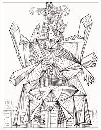 Dessin Noir Blanc Picasso De 1938 Chefs D Uvres Coloriages