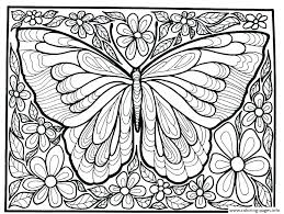 Free Coloring Pages Flowers And Butterflies Of Butterfly Pictures