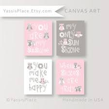 canvas prints for baby room. Owl Nursery CANVAS Art, Baby Girl Nursery, You Are My Sunshine Canvas Print, Prints For Room E
