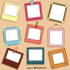 cute doodle frames design free vector