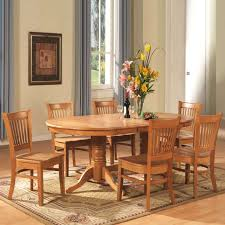 east west furniture 8 piece vancouver oval table dining set oak from kitchen table for 6
