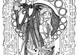 A Nightmare Before Christmas Coloring Pages The Nightmare Before