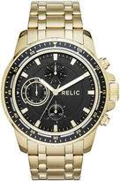 relic mens watches shopstyle relic relic mens gold tone ion plated stainless black dial bracelet watch