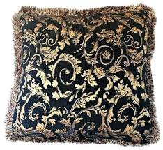 red and black pillows black and brown pillows large fl black brown gold fringe pillow handmade red and black pillows