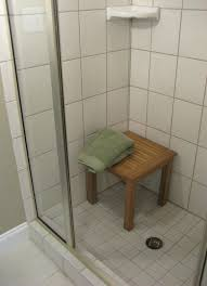 teak bathroom stools. Pristine Teak Shower Stool Seat Showerbench Then Shelf Bathroom Stools