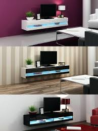 high gloss stand cabinet with led lights entertainment floating wall unit units for living room uk