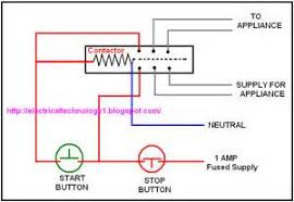 wiring diagram for motor contactor images working of contactor a simple circuit diagram