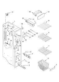Frigidaire ice maker parts diagram inspirational kenmore elite side by side refrigerator parts