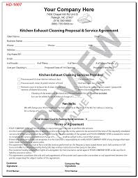 sample cleaning contract agreement kitchen exhaust cleaning service reports invoices service