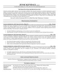 System Administrator Resume Template System Administrator Resume Sample  Jennywashere Templates