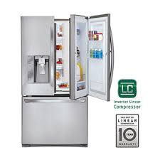lg refrigerator with ice maker. 29 cu. ft. ultra capacity door-in-door® 3-door lg refrigerator with ice maker