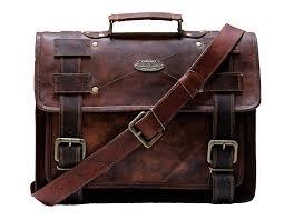details about mens vintage leather messenger bag 15 inch laptop satchel business cross bag