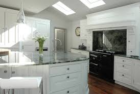 white wooden stacking chairs graceful look of shaker kitchen design ideas delightful kitchens look using grey quartz countertops and