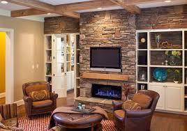 Fancy Stone Fireplace Wall ...
