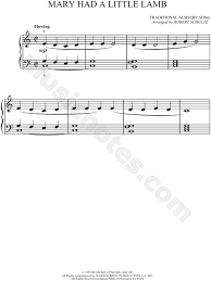 Includes lyrics, melody, and accompaniment. Traditional Mary Had A Little Lamb Sheet Music Piano Solo In C Major Download Print Sku Mn0034759