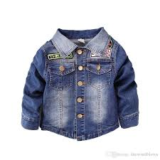 Autumn Denim Boy Jackets Kids Spring Blue Boys Coat For School 2 3 4 5 6 Years Old Clothes Baby Girls Winter Coats Toddler
