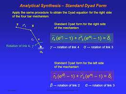 5 ken youssefi mechanical aerospace engineering dept sjsu ytical synthesis standard dyad form apply the same procedure to obtain the dyad equation