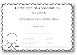 Certificate Of Appreciation Template For Word Custom Free Certificate Of Appreciation Templates Certificate Templates