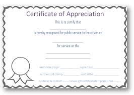 Free Certificate Of Appreciation Templates Certificate Templates