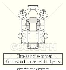 Vector Clipart - Car pickup truck drawing outlines not converted to ...