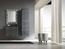 wooden bathroom mirrors. Stunning Decorating Ideas Using Rectangular Black Rugs And Silver Mirrors Also With Grey Wooden Bathroom