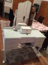 Queen Anne Bedroom Suite Vintage Queen Anne Dresser Dressing Table In Fusion Mineral Paint