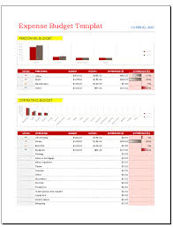 Budget Expenses Template Expense Budget Template Budget Templates