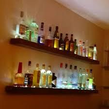 lighted bar shelves diy lighted bar shelves for the home