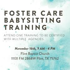 Foster Care Babysitting Training The Fostering Collective