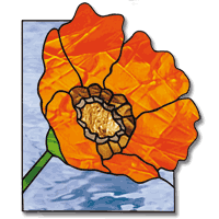 Stained Glass Flower Patterns Amazing Free Pattern Flower