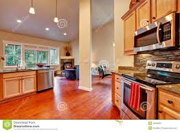Open Floor Kitchen House Interior Open Floor Plan Kitchen Area Stock Photo Image